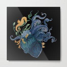 Heart - Ocean Metal Print