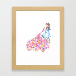 Knitted Flowers Framed Art Print