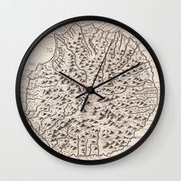 Vintage Reunion Island Map (1763) Wall Clock