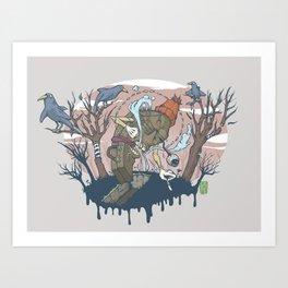 Coughin' Art Print