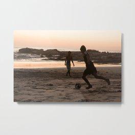 Soccer at Sunset II Metal Print
