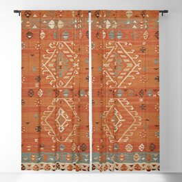 Heritage Traditional Moroccann Rug Design Blackout Curtain