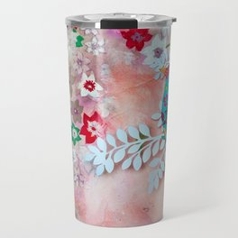 Little bird on branch Travel Mug