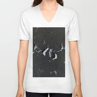 cracked V-neck T-shirts featuring cracked by Grigoriy Pil