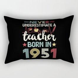 Teacher born in 1951 70th Birthday Gift Teaching Rectangular Pillow