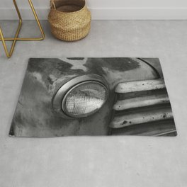 Old Truck Headlight and Grill Rug