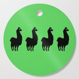 Angry Animals: llama Cutting Board