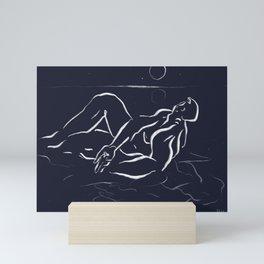 Night keeper Mini Art Print