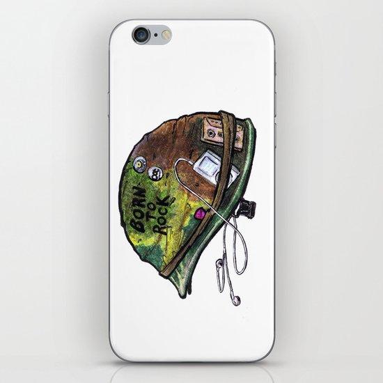 """Born to Rock"" by Cap Blackard iPhone & iPod Skin"