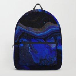 Dark Blue Midnight Waves Backpack