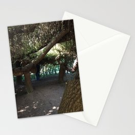 Inside tree cave at Kubota Garden Stationery Cards