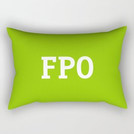 For Placement Only - FPO - Artwork (Ebay Green) Rectangular Pillow