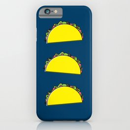 omg tacos! on navy iPhone Case