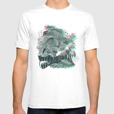 The wave Mens Fitted Tee White MEDIUM