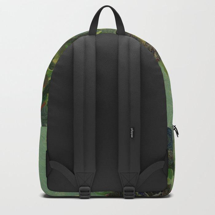 """Vincent van Gogh """"Basket of Pansies"""" Backpack"""