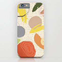 Abstract Graph Paper Collage iPhone Case
