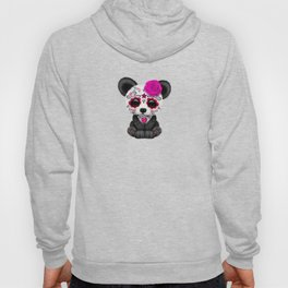 Pink Day of the Dead Sugar Skull Panda Hoody