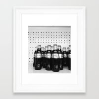 coke Framed Art Prints featuring Coke by smaningom