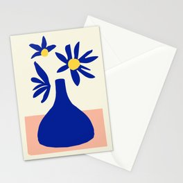 Blue Jar over pink table Stationery Cards