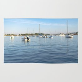 Boats on Scituate Harbor Rug