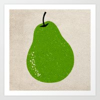 pear Art Prints featuring Pear by Roland Lefox