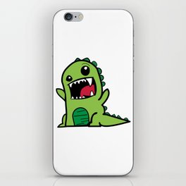 Cartoon Doodle T-Rex Dinosaur iPhone Skin