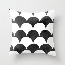 BUMPY - BLACK Throw Pillow
