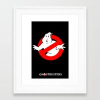 ghostbusters Framed Art Prints featuring Ghostbusters by IIIIHiveIIII