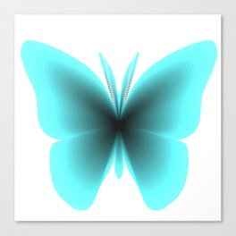 Pretty Wings of Aqua Butterfly Canvas Print