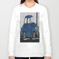 cuba Long Sleeve T-shirts featuring Cuba Car by Sartoris ART