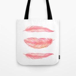 Flamingo Feathers   Watercolour Print Tote Bag
