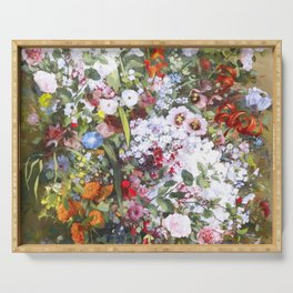 Spring riot of flowers - Courbet inspired Serving Tray
