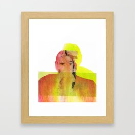 neon love duo Framed Art Print
