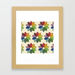 Flower pattern based on James Ward's Chromatic Circle Framed Art Print