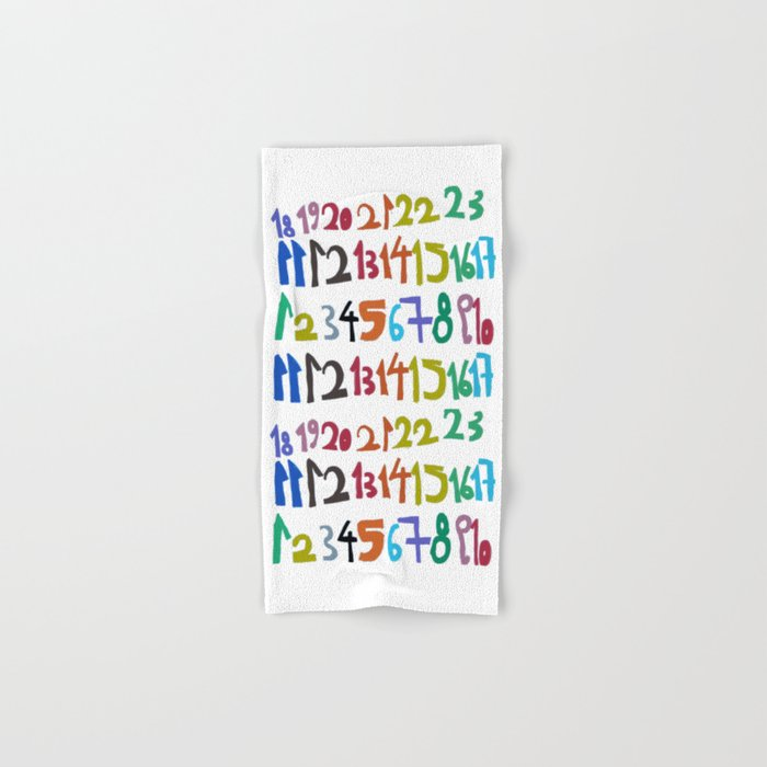 NUMBERS Hand & Bath Towel