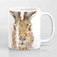 hare Mugs featuring HARE by Patrizia Ambrosini