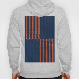 Blue and Orange Lines 0001c Hoody