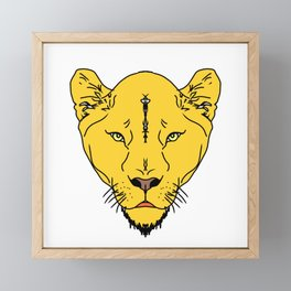 Lion Vector Art and Graphics / GFTLion001 Framed Mini Art Print