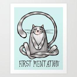 First meditation Art Print