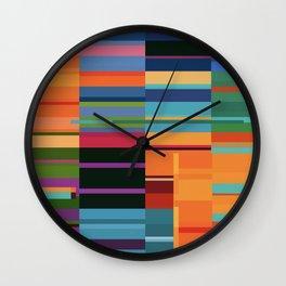 Colorful Retangles Abstract Art Digitalart Home Decor Gift Wall Clock