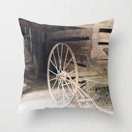 19th Century Farm Scene from Cades Cove Throw Pillow