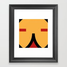 face 9 Framed Art Print