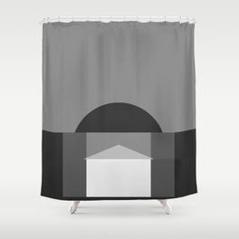 Minimal Pantheon Shower Curtain