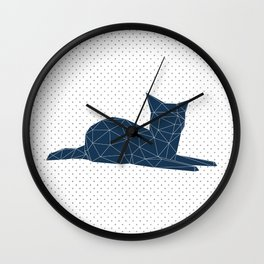 Faceted Cat Wall Clock