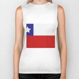 Chile flag Biker Tank