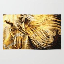 Golden Palomino Equine Art Rug