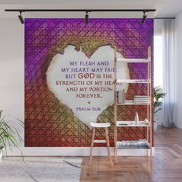 The Strength of My Heart Wall Mural
