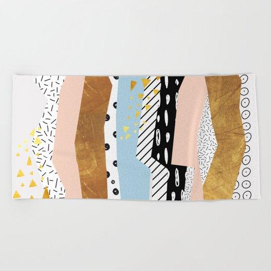 Geometric shapes 01 Beach Towel