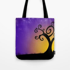 The boy, the tree and the stars Tote Bag