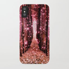 Magical Forest Vibrant Pink Living Coral iPhone Case